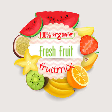 fruit juices: fruits Illustration