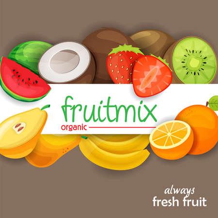 tropical fruit: fruits Illustration