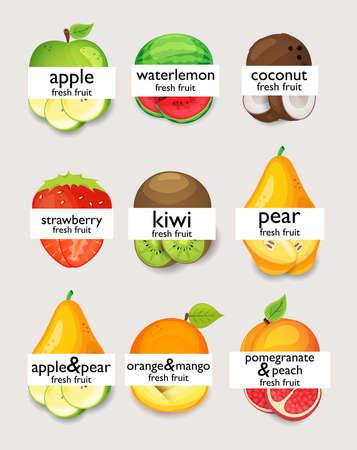 pomegranate juice: fruits Illustration