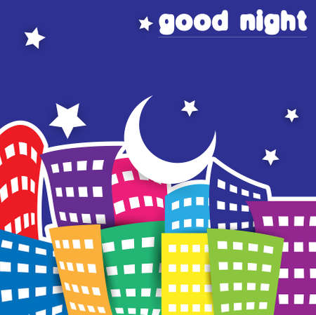 apartment buildings: good night Illustration