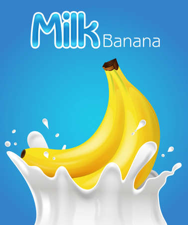 vector background: Milk Banana