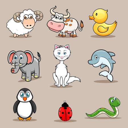 pato caricatura: animales