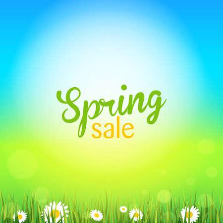 food sales: spring Illustration