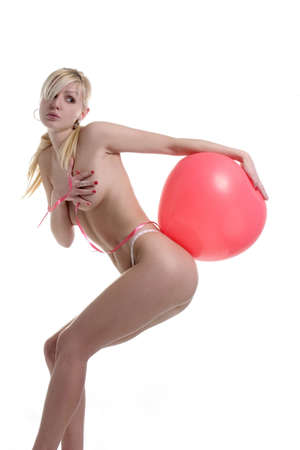 lady with balloon on the ass Stock Photo - 386582