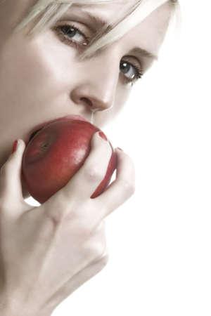 nip the apple Stock Photo - 392706