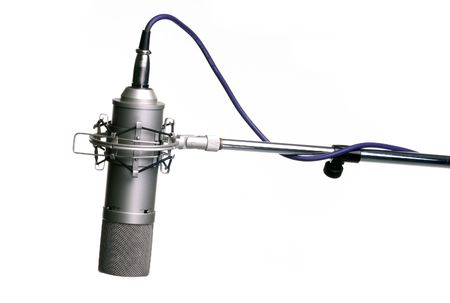 microphone on tripod Stock Photo