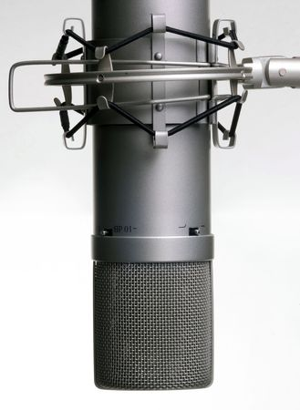 gullet: microphone in studio Stock Photo