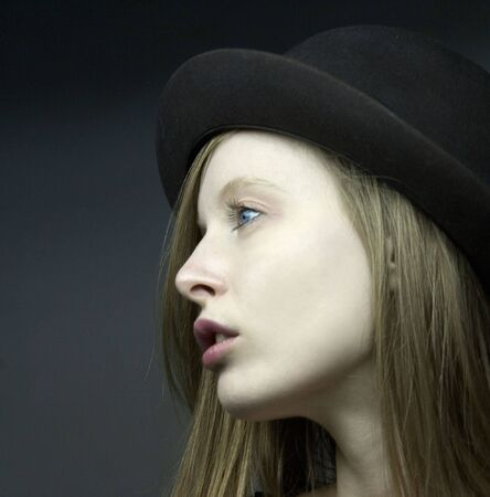 ivan: portraut of blondie girl with hat