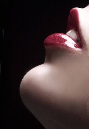 sexuality: sensual red lips