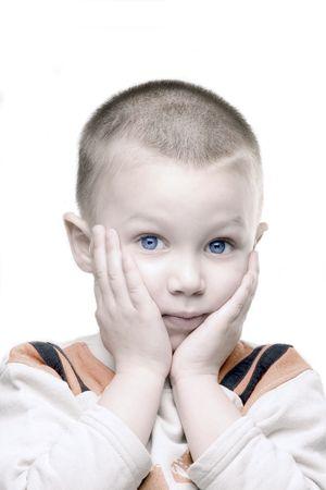 marvel blond boy with blue eyes photo