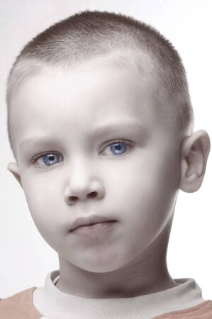 face of marvel boy with blue eyes Stock Photo - 393746