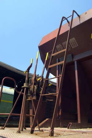 waggon: steel ladder on waggon