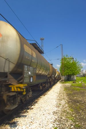benzin: train with tanker waggons