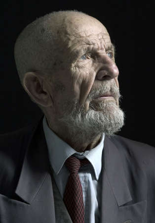 wistful: portrait of oldy man Stock Photo