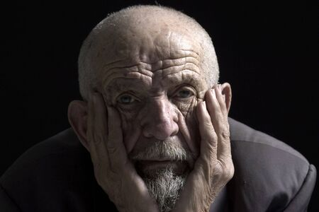 portrait view: face of muse old man