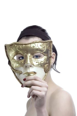 beauty female face and mask