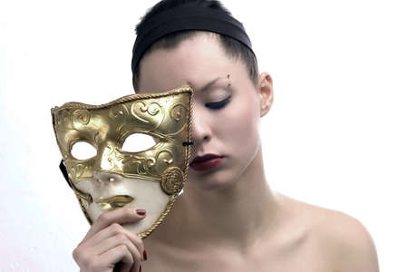 beauty face and mask
