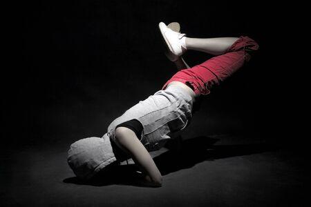 break dancer in rmovement