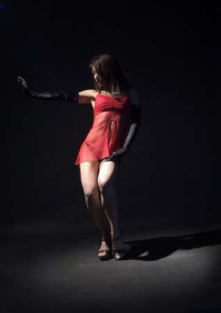 female dancer in red dress Stock Photo - 470280