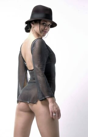 back of beauty lady in fashion pose Stock Photo - 470218