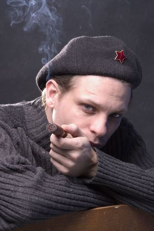 woner smoking communist photo