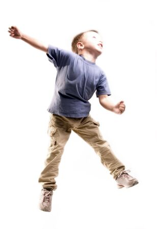 boy is jumping photo