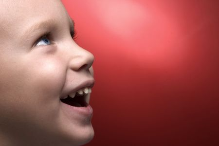 profile of smiling boy photo