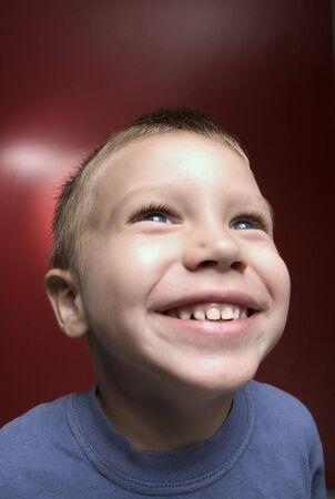 portrait of smiling boy photo