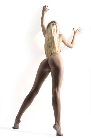 erotic fantasy: blond on finger tips Stock Photo