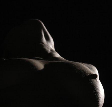schwarze frau nackt: abstrasct lght auf die weibliche