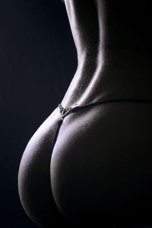 lines of female back with  Stock Photo