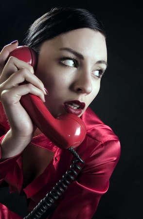 girl is talking on the phone Stock Photo - 1141387