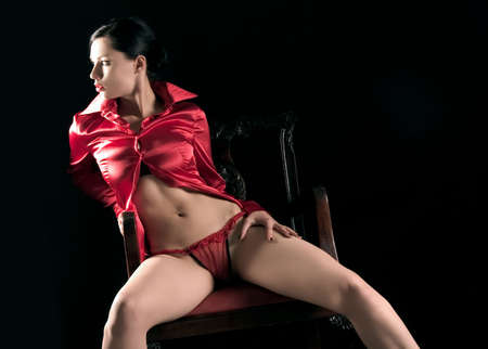 girl in erotic pose