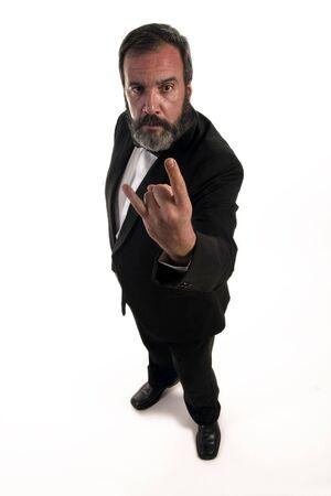 portrait of hard rock gentleman  photo