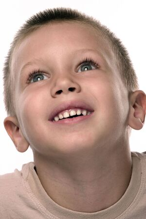 smilling: portrait of a smilling happy boy
