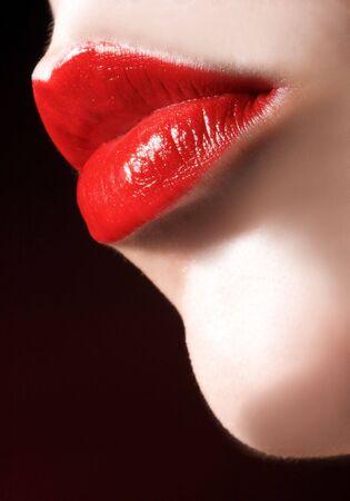 labbra sensuali: Primo piano di labbra sensuali