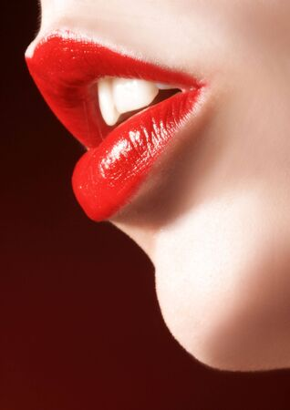 labbra sensuali: Chiudasi in su dei labbri sensual