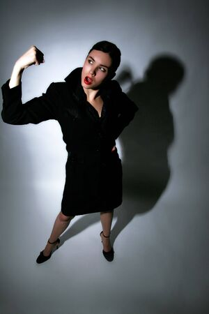 winning business woman: a portait of a winning business woman Stock Photo
