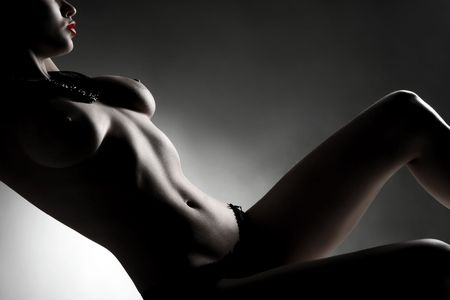 erotic: a beauty silhouette of an attractive female