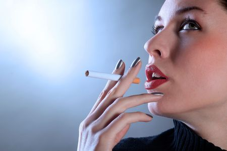 lighter: a portrait of a woman with cigarette