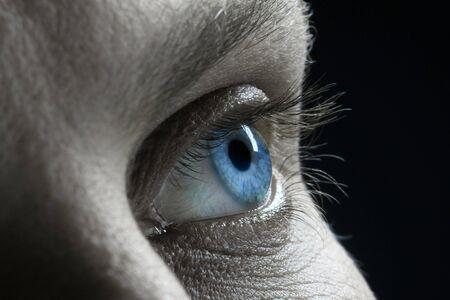 blue man Eye closeup