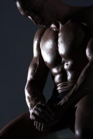 Sexy muscular body builder Stock Photo - 6544190