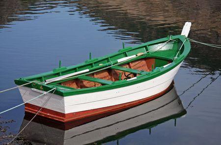 Old Boat moored in Kings Bay, Crystal River Florida