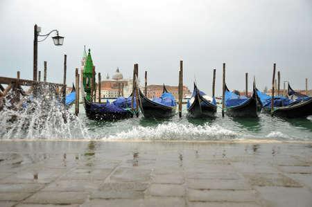 venice: Venetian Aqua Alta High Water At San Marco Venice