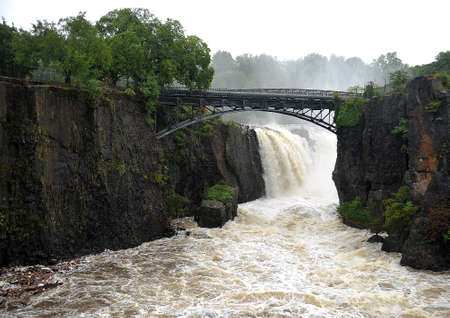 Great Falls, Paterson NJ after Hurricane Irene Stock Photo - 10599748