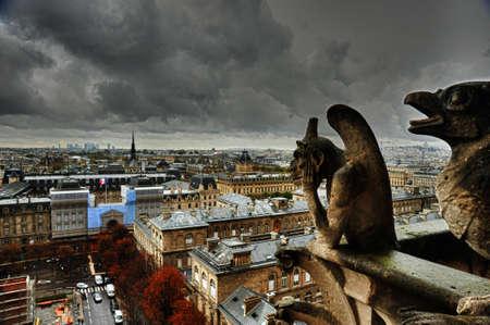 gargoyles: Gargoyles of Notre Dame Stock Photo