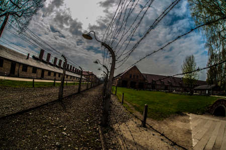 concentration: Auschwitz Concentration Camp Editorial
