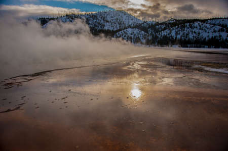 prismatic: Grand Prismatic Spring Yellowstone
