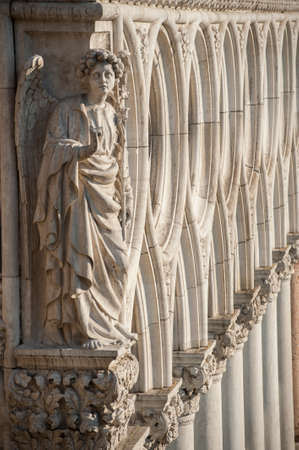 doges  palace: Angel Statue at Doges Palace Venice Italy
