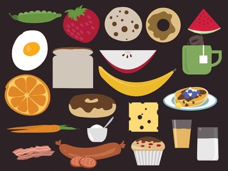Breakfast or snack food menu Stock Vector - 9959074